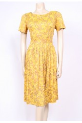 Yellow Late 50's Dress