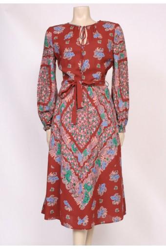 Cotton Print Day Dress