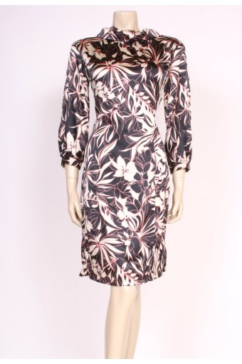 60's Silk Print Dress