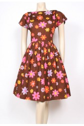 Bright Flowers 50's Dress