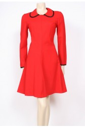 Red Wool 70's Dress