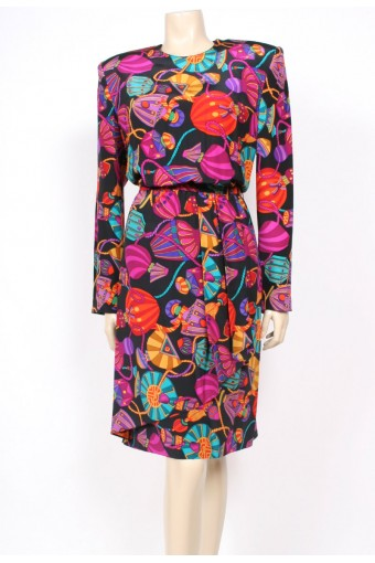 Perfume Print Louis Feraud Dress