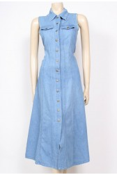 Sleeveless 90's Denim Dress