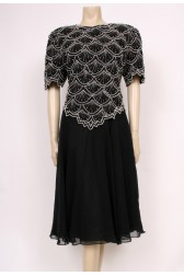 Black Pearls Party Dress