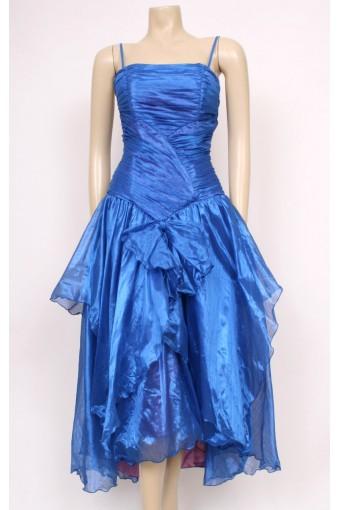 80's Blue Party Dress