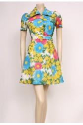 70's Flowers Dress