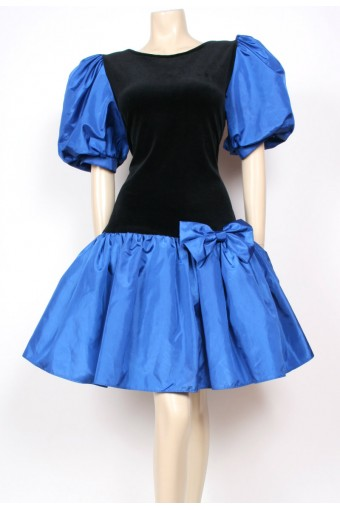 Blue Puff Party Dress
