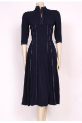 Stitch Crepe 1940's Dress