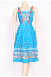 Turquoise Print Sun Dress