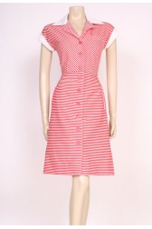 Stripey Red Sun Dress