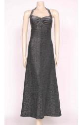 Silver Disco Maxi Dress