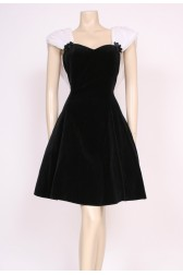 Velvet Black Party Dress