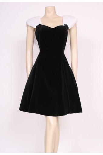 Velvet Black Party Dress