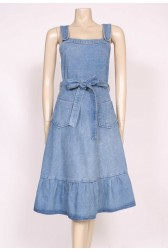 70's Denim pinafore Dress