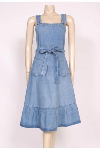 70's Denim pinafore Dress