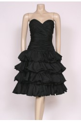 Strapless Black Prom Dress