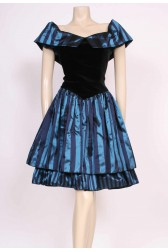 Stripe Velvet Party Dress
