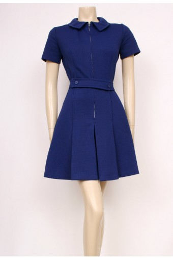 Zip-Up Navy Mod Dress