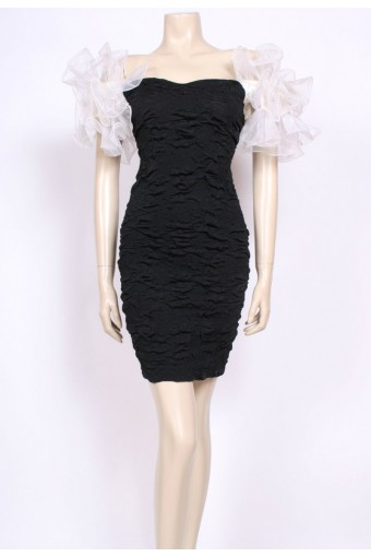 Sculpted Ruffle Dress