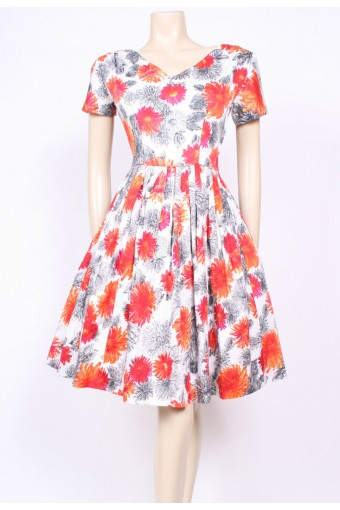 Fit & Flare Flower Dress