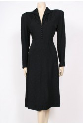 Textured Crepe 40's Dress