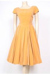 Mustard Velvet 50's Dress