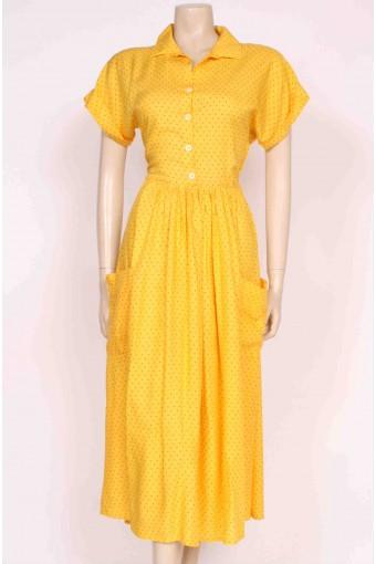 Yellow Spotty Sun Dress