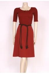 Rust Brown 70's Dress