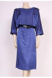 80's Blue Day Dress