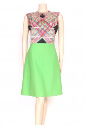 Technicolor Silk & Wool Dress