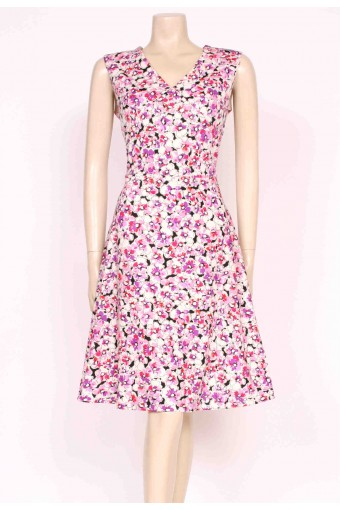 70's Pansy Print Dress