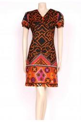 60's Aztec Print Dress