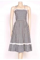 70's Gingham Sun Dress