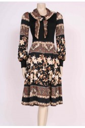70's Printed Day Dress