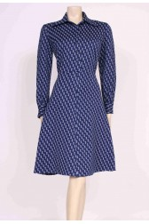 70's Blue Mod Dress