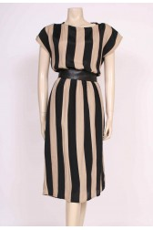Stripe Back Detail Dress