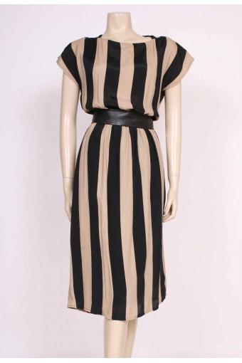 Stripe Back Detail Dress