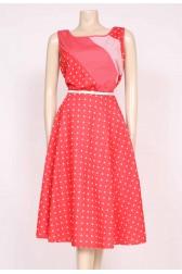 Spotty Red 70's Dress