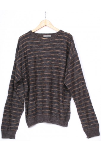 Black & Grey 80's Jumper