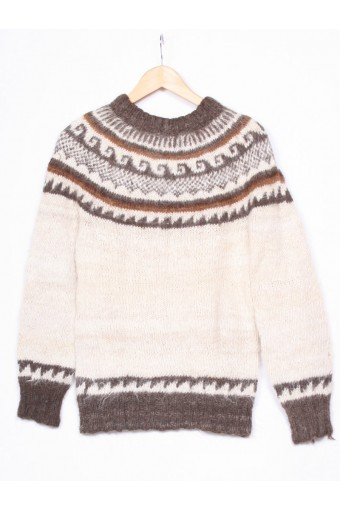 Cream Icelandic Knit