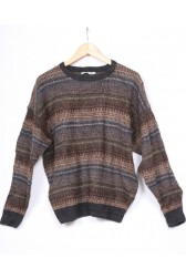 Brown Stripe 80's Knit