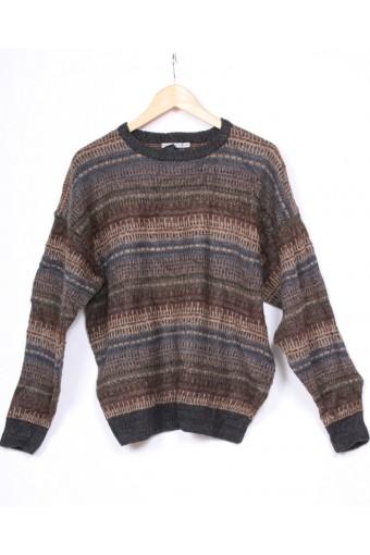Brown Stripe 80's Knit