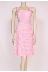 Stripes Pink Sun Dress