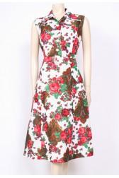 Rosey Paisley 70's Dress