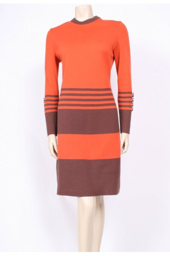 Louis Feraud Knit Stripe Dress
