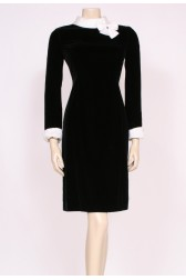 Velvet Bow Collar Dress