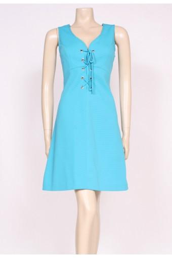 70's Turquoise Mini Dress