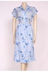 Sky Blue 80's Dress