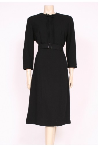 40's Wool Crepe Dress