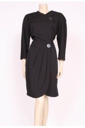 Big Buttons Wrap Dress